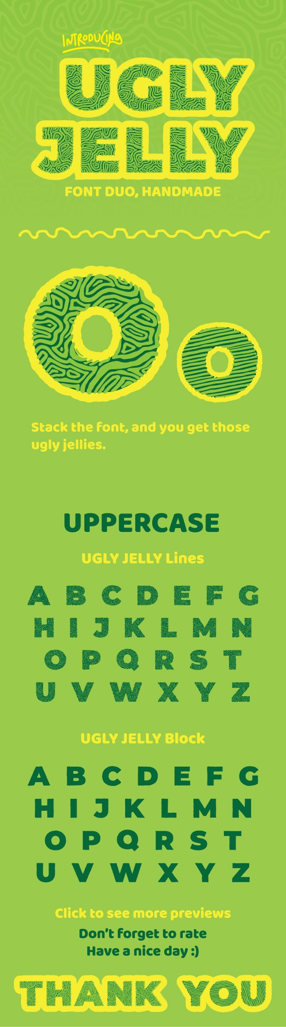 UGLY JELLY Font Duo - Miscellaneous Decorative