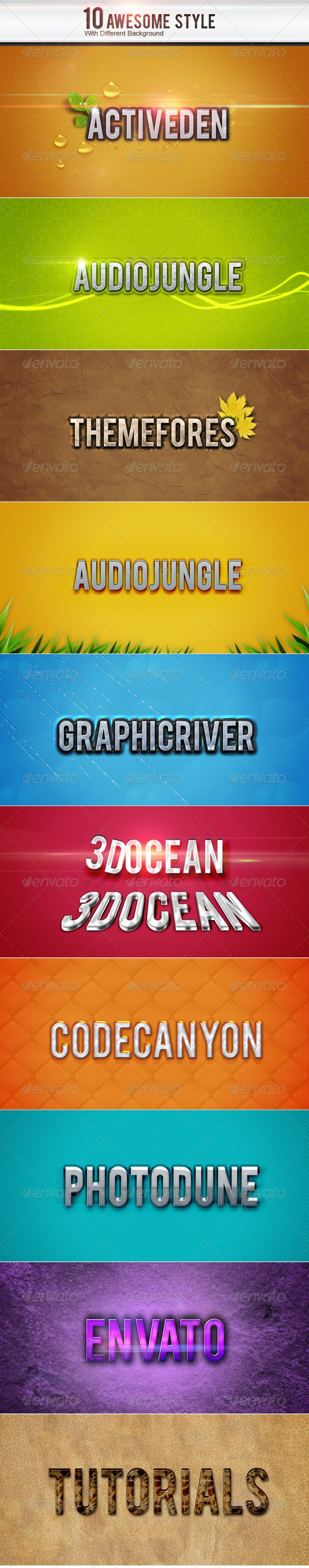 10 Style - Backgrounds Graphics