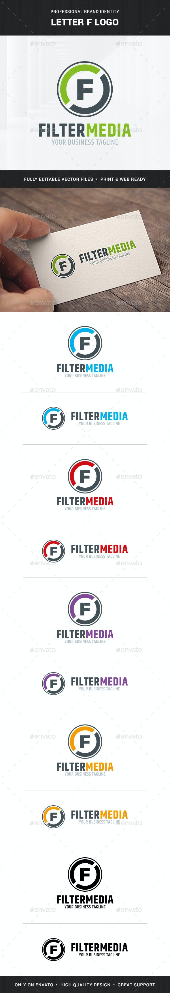 Letter F Logo Template - Letters Logo Templates