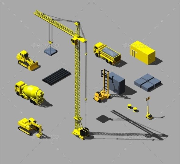 Construction Vehicles and Objects - Industries Business