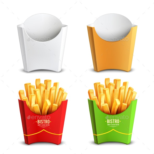 French fries 2x2 Design Concept - Food Objects