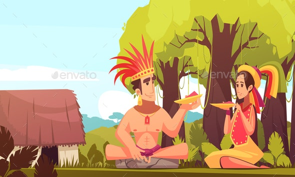 Maya Family Background - People Characters