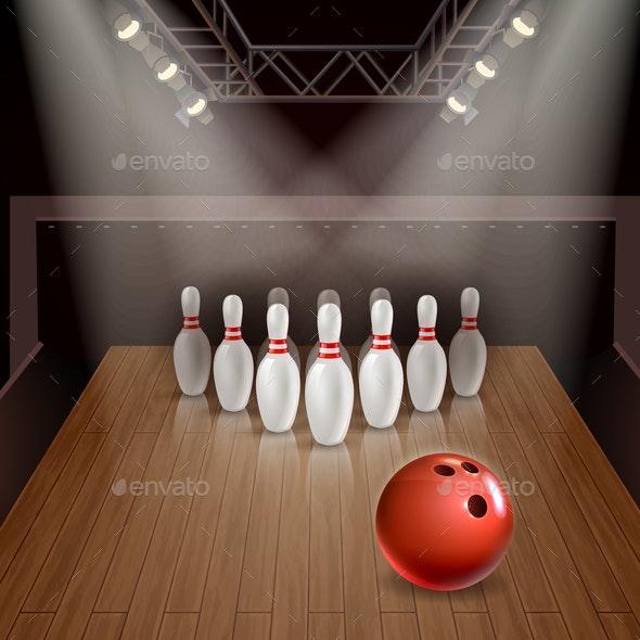 Bowling 3D Illustration - Sports/Activity Conceptual