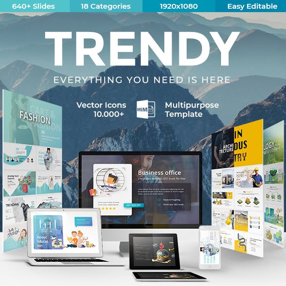 Trendy - Multipurpose Keynote Template