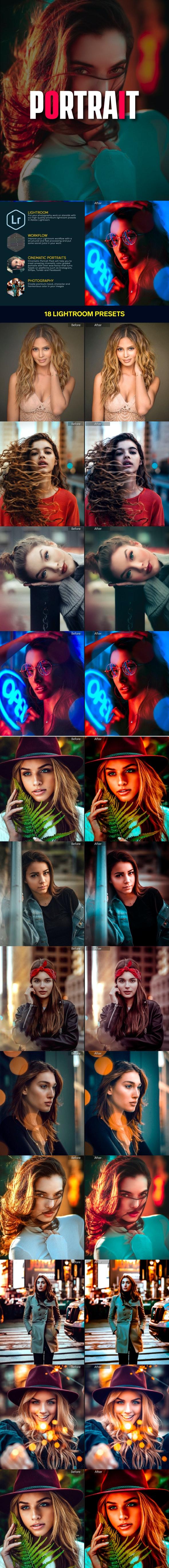 18 Portrait Retouching Lightroom Presets - Portrait Lightroom Presets