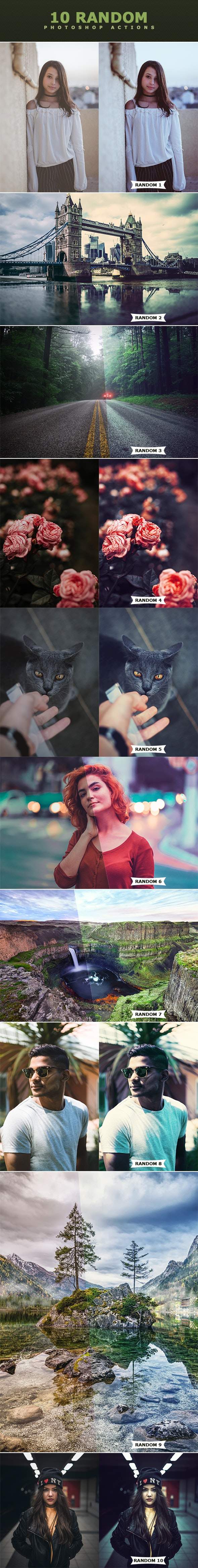 Random Photoshop Actions - Photo Effects Actions