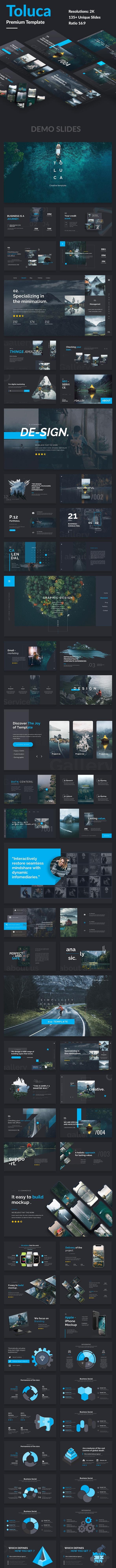 Toluca Premium Design Powerpoint Template - Creative PowerPoint Templates