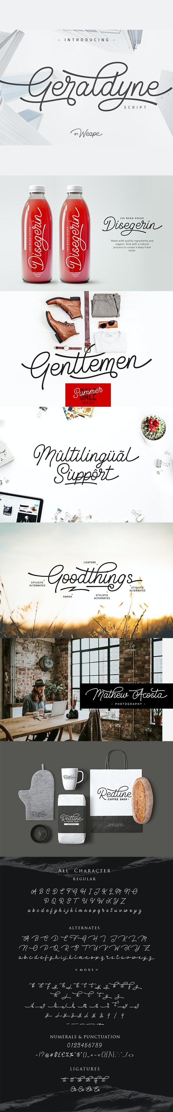Geraldyne Script - Script Fonts