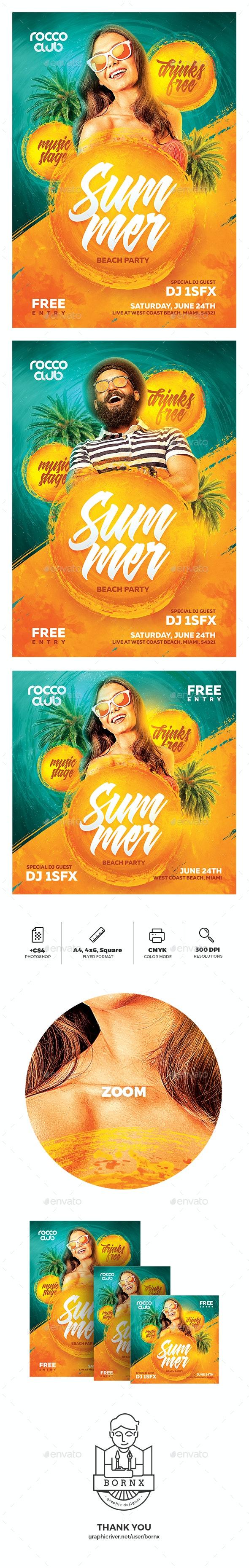 Hot Summer Flyer - Holidays Events