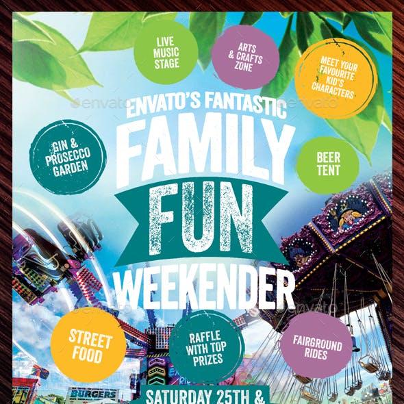 Family Fun Weekender Flyer Template