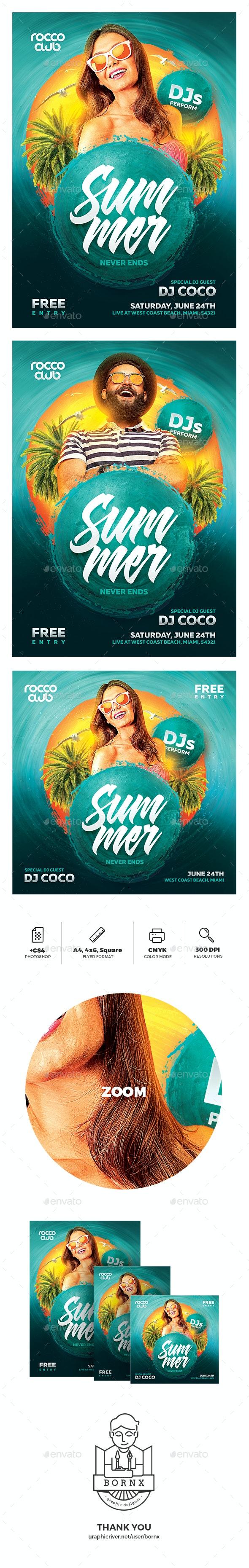 Summer Flyer - Holidays Events