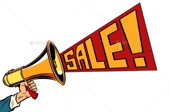 Speaker Megaphone Sale - Retail Commercial / Shopping