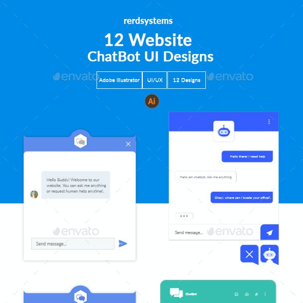 12 Creative Website Chat Bot UI Designs