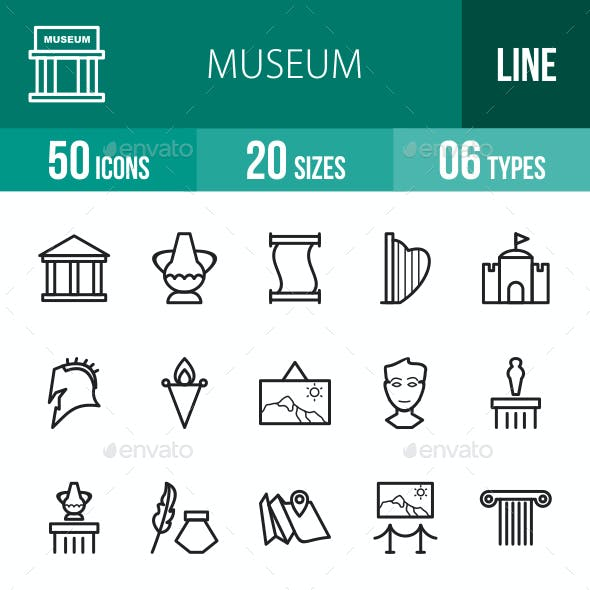 Museum Line Icons