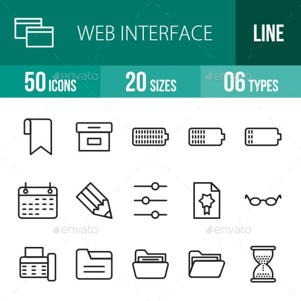 Web Interface Line Icons