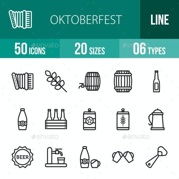 Oktoberfest Line Icons