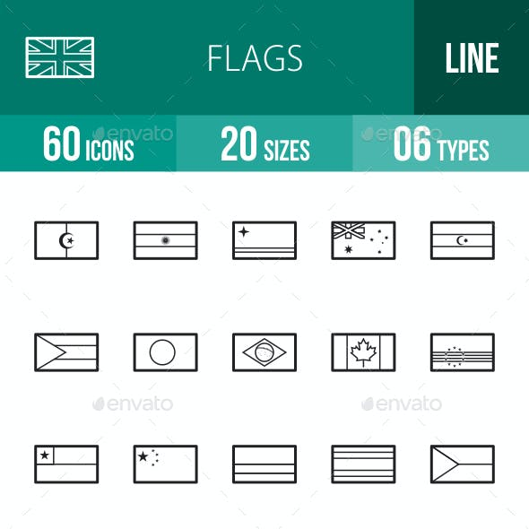 Flags Line Icons