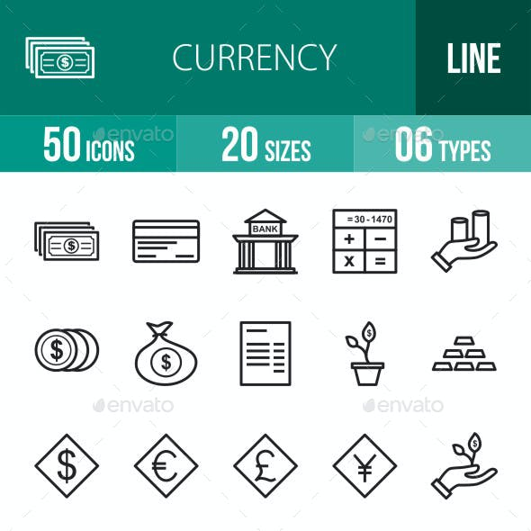 Currency Line Icons