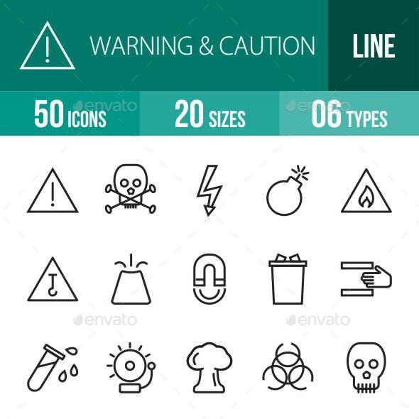 Warning & Caution Line Icons