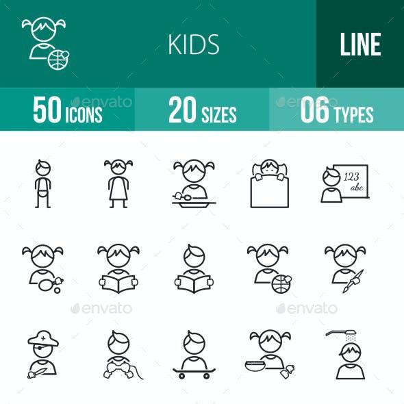 Kids Line Icons