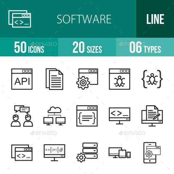 Software Development Line Icons