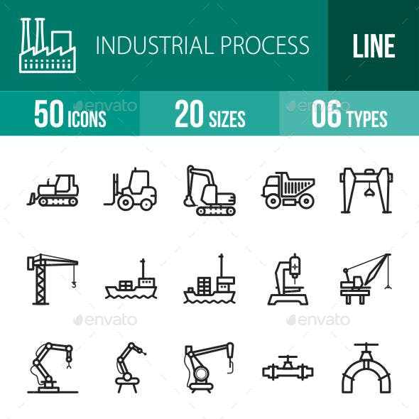 Industrial Process Line Icons