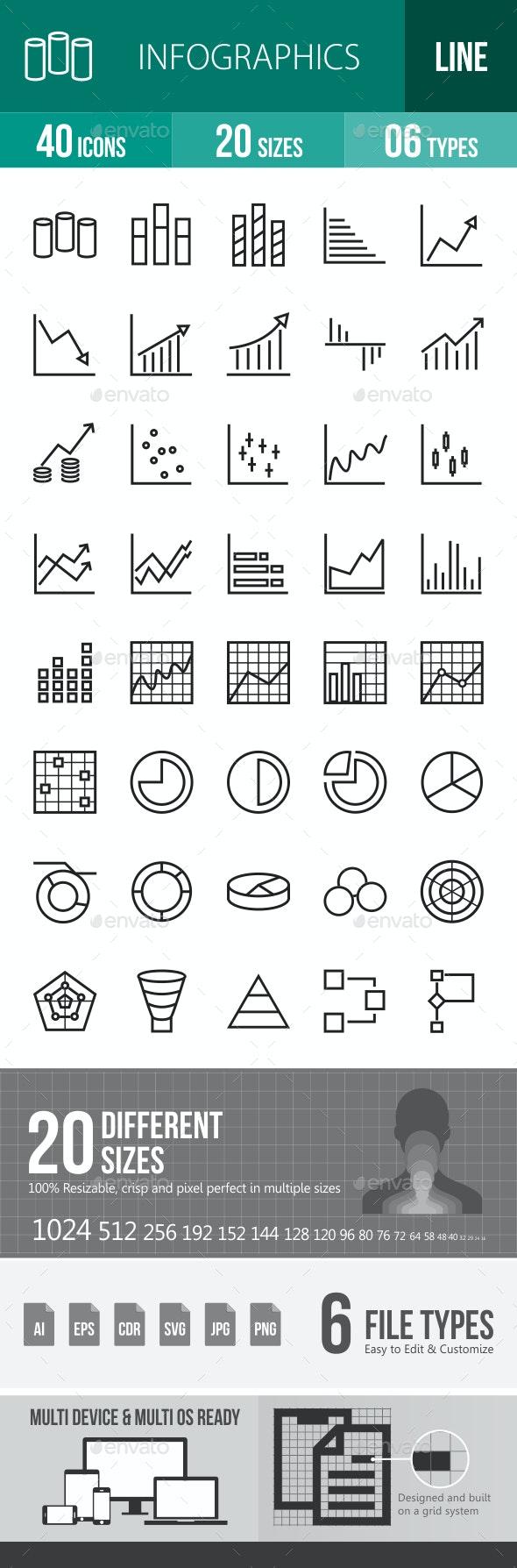 Infographics Line Icons - Icons