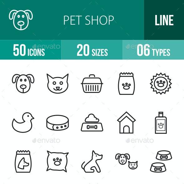 Pet Shop Line Icons