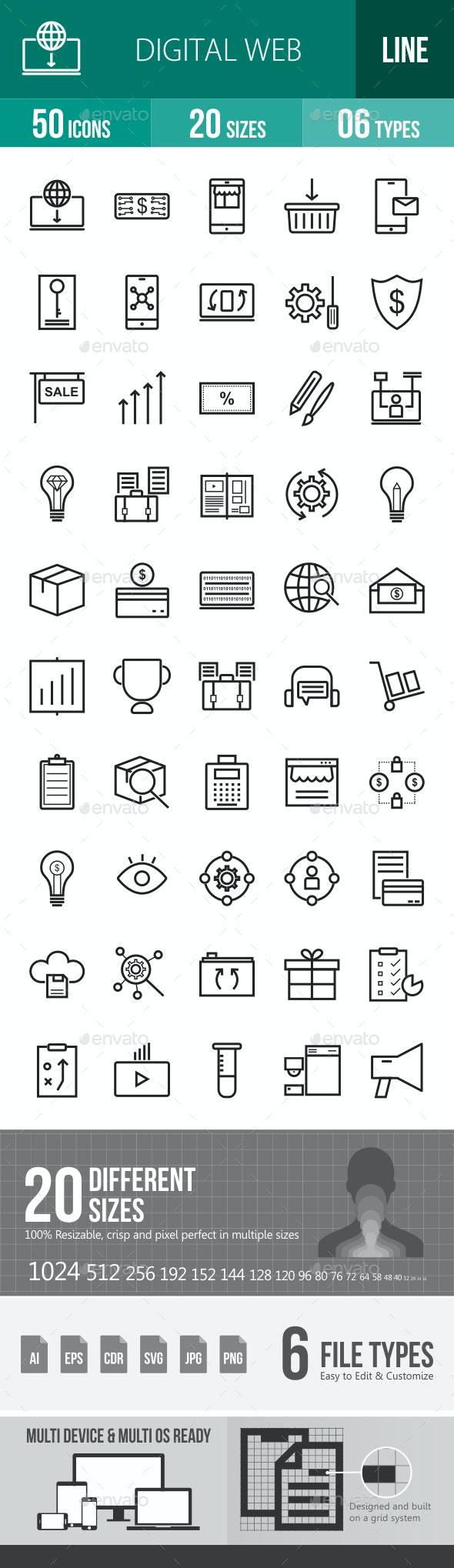 Digital Web Line Icons - Icons