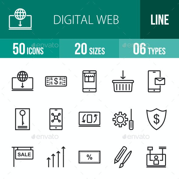 Digital Web Line Icons