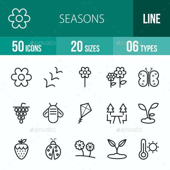 Seasons Line Icons