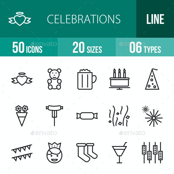 Celebrations Line Icons