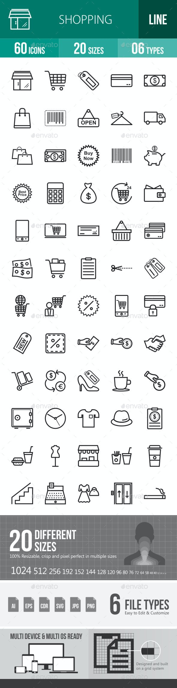 Shopping Line Icons - Icons