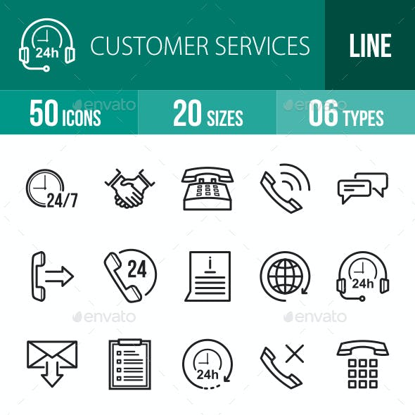 Customer Services Line Icons