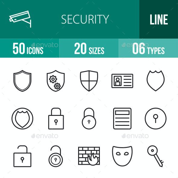 Security Line Icons