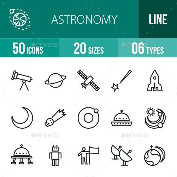 Astronomy Line Icons