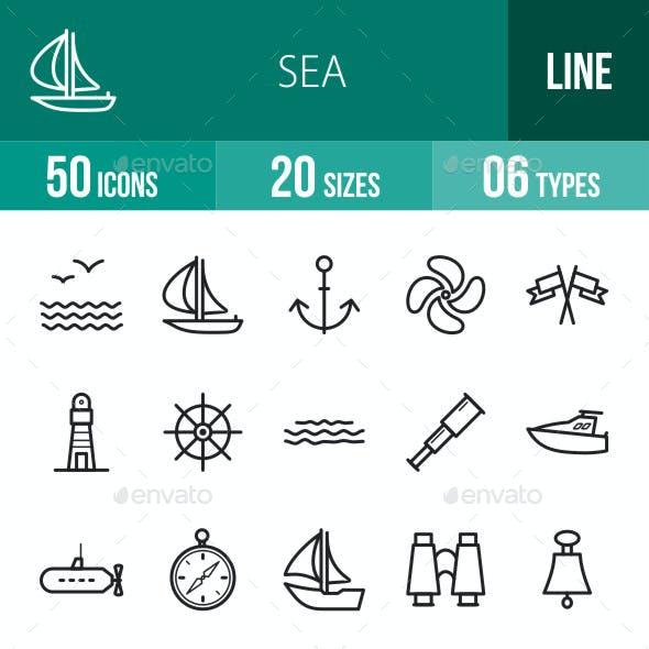 Sea Line Icons