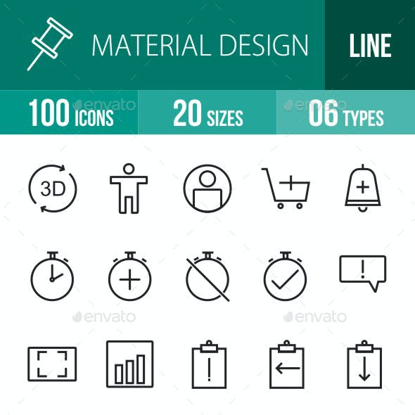 Material Design Line Icons