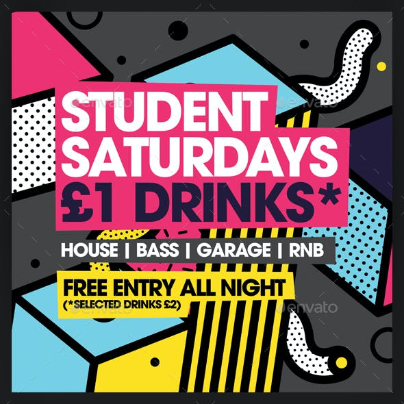 Student Saturdays Commercial Club Flyer