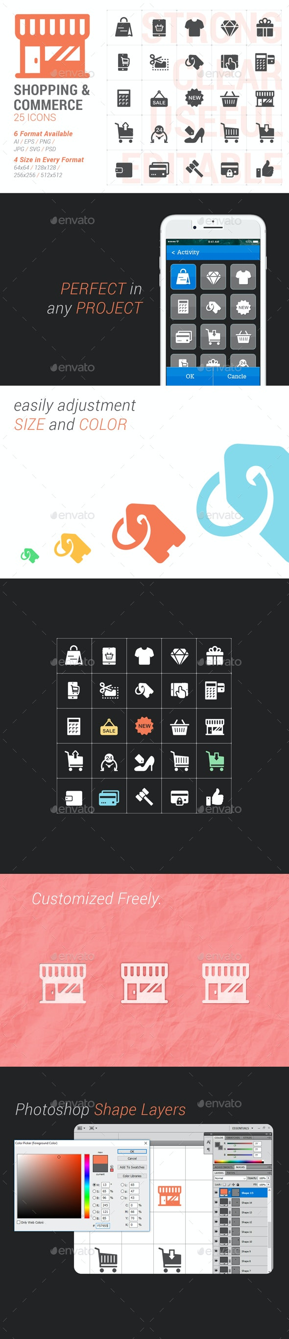 Shopping & Commerce Filled Icon - Business Icons