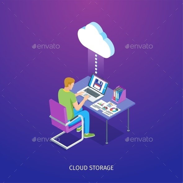 Cloud Storage Banner - Computers Technology