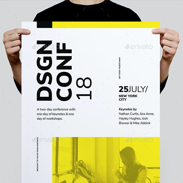 DSGN Series 4 Poster / Flyer Template
