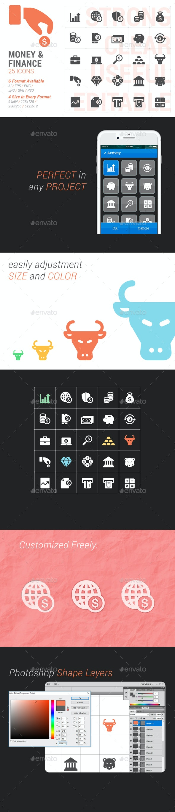 Money & Finance Filled Icon - Business Icons