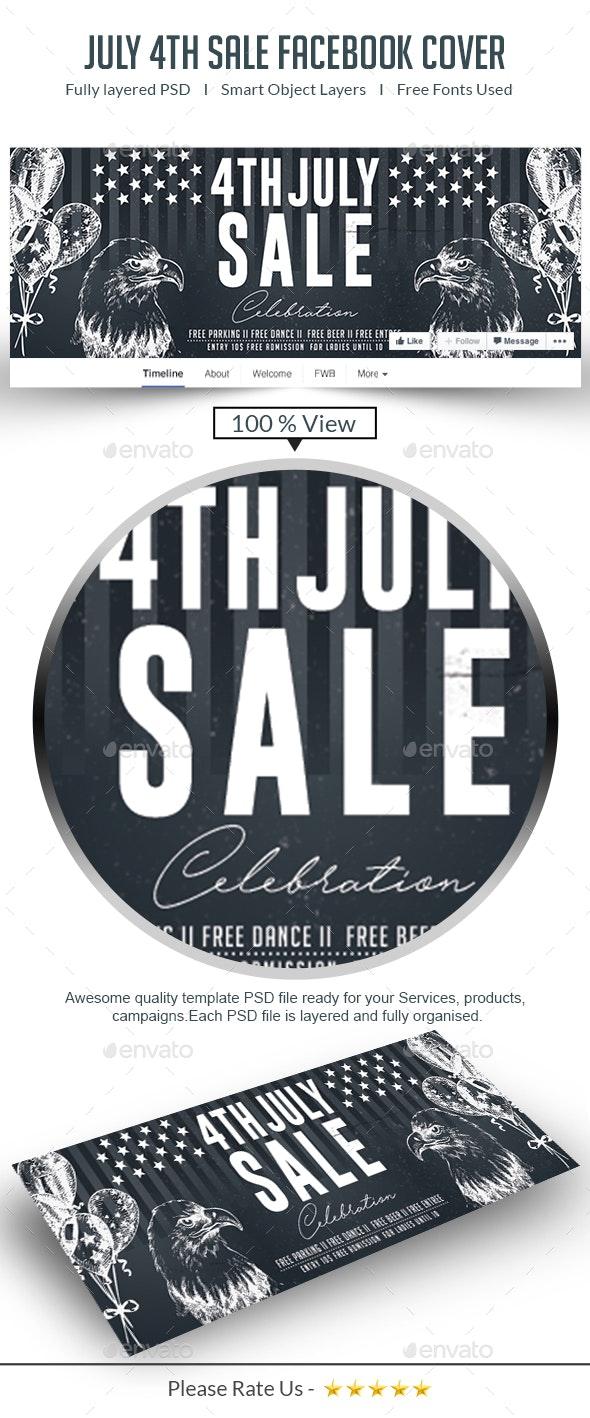 July 4th Sale Facebook Cover - Facebook Timeline Covers Social Media
