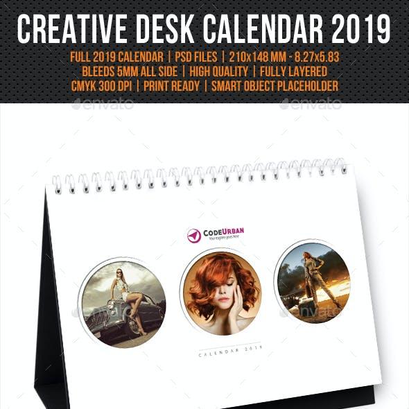 Creative Desk Calendar 2019 V07