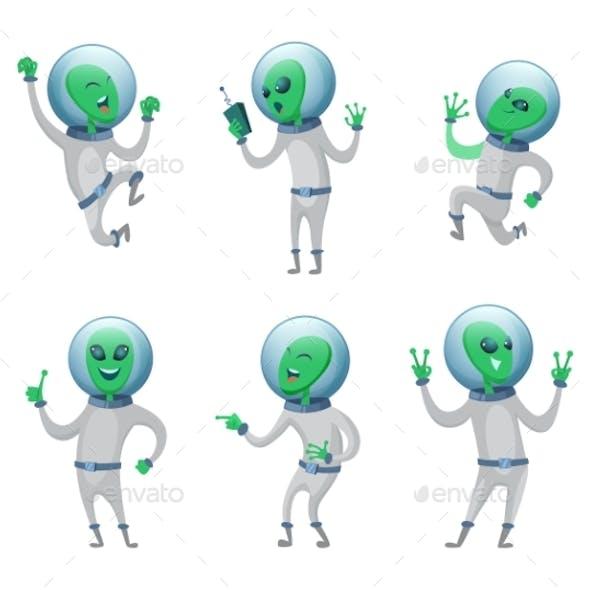 Aliens Standing in Various Poses