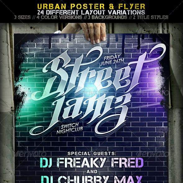 Urban Poster + Flyer / 24 Layout Variations!
