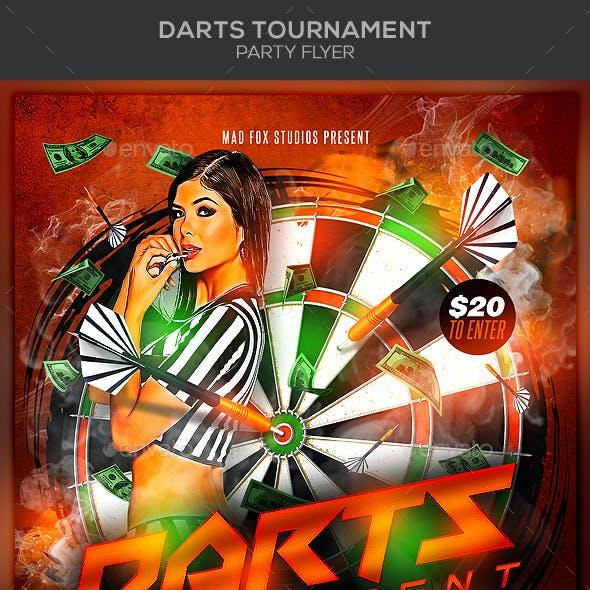 Darts Tournament Party Flyer