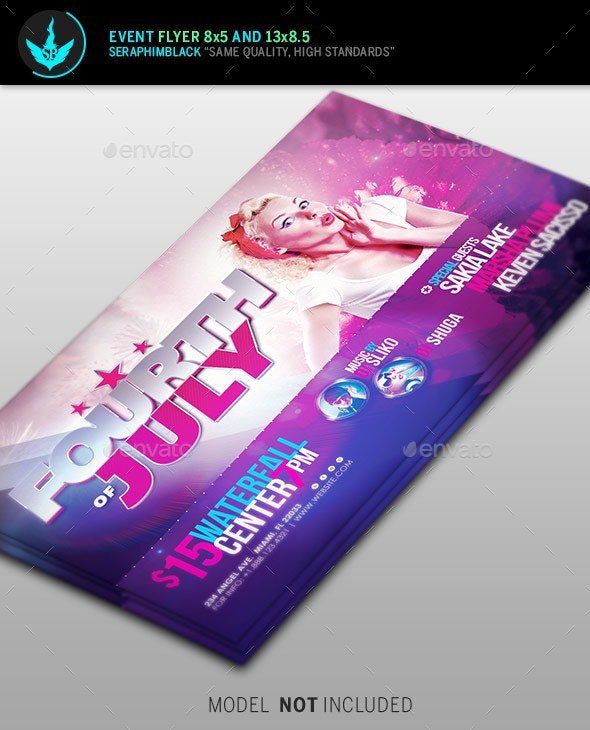 4th of July Celebration Template - Flyers Print Templates