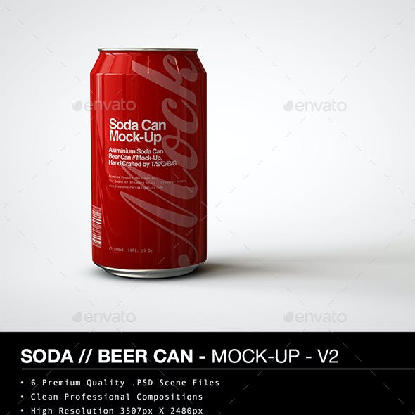 Soda Can | Beer Can Mock-Up - V2